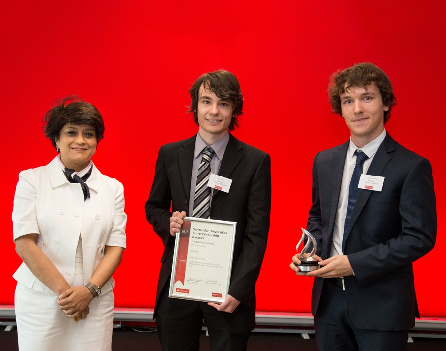 Santander recognises UK's most promising entrepreneurial students