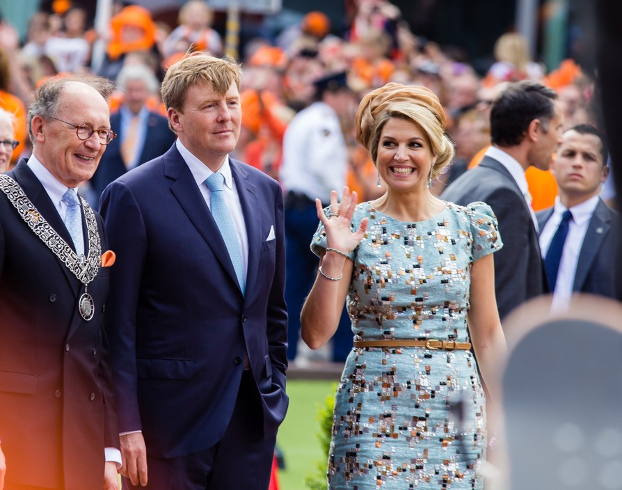 Theresa May welcomes Dutch royals as over 500 new UK jobs were announced