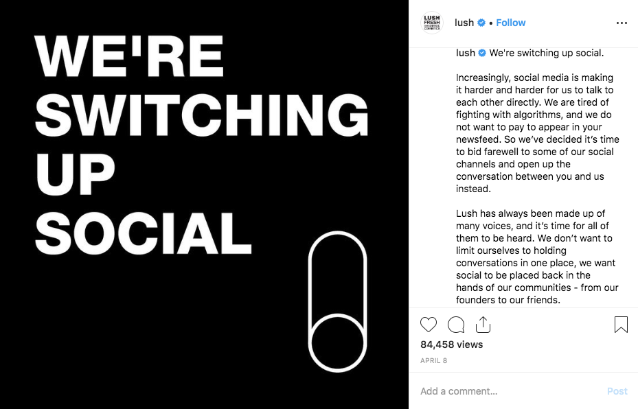 Should other brands follow LUSH and abandon social media